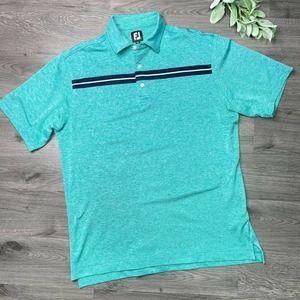 FOOTJOY | sz L Striped Short Sleeve Golf Polo